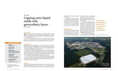 Cappint semi-liquid solids with geosynthetic layers