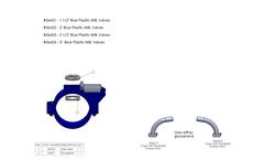 E-Zee - Model 56421 - Blue Plastic Milk Valves Brochure