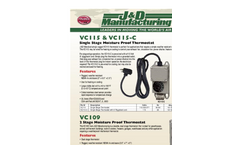 Model VC109 - Two Stage Moisture Proof Thermostat Brochure