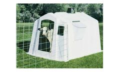 PolyDome - Model PD-1010 - Poly Square Big Foot Calf Nursery White