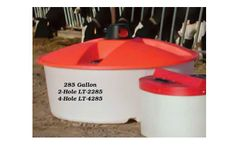 PolyDome - Model LT-4285 - 285 Gallon 4 Hole Lick Tank