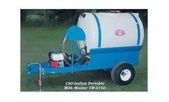 PolyDome Milk Master - Model TM-0150 - 150 Gallon Portable Milk Mixer 6.5 HP Honda