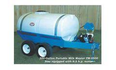 PolyDome Milk Master - Model TM-0300 - 300 Gallon Portable Milk Mixer 6.5 HP Honda