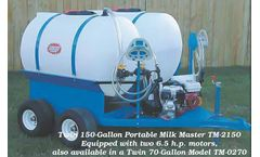 PolyDome - Model TM-2150 - Twin 150 Gallon Portable Milk Mixer