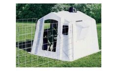 PolyDome - Model PD-1015 - Poly Square Big Foot Calf Nursery White