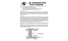 Coburn - All Stainless Steel Plate Cooler - Manual