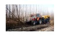 Harvesting poplar for biomass and baling in Spain Video