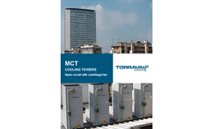 MCT - Open circuit cooling tower with centrifugal fan