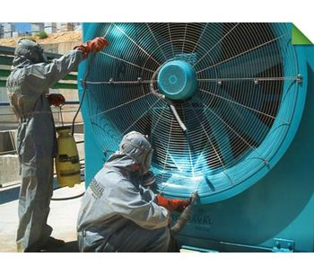 Cleaning and Disinfection Cooling Towers Service