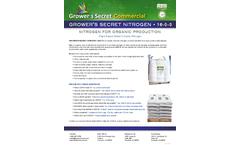 Growers Secret - 16-0-0 - Organic Nitrogen - Datasheet