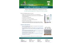 Growers Secret - Seaweed Powder - Datasheet