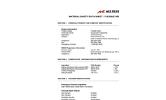 Multiurethanes - Flexible Resin MSDS