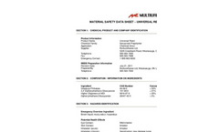 Multiurethanes - Universal Resin MSDS