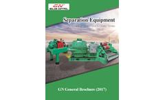 Centrifuge / Solids Control / Shaker Screen Separation Equipment - Brochure