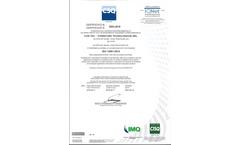 Certificate ISO-14001 2015 - Brochure