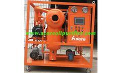 Acore - Model DVTP - Transformer Oil Dehydration and Degassing System