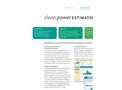 Clean Power Estimator Brochure