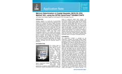 AP-M8001 Mercury Determination in Coastal Seawater, BCR-579, EPA Method 1631 (Performance Based Mode), using the CETAC QuickTrace™ M-8000 CVAFS - Application Note