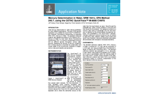 Mercury Determination in Water, SRM 1641c, EPA Method 245.7, using the CETAC QuickTrace™ M-8000 CVAFS  - Application Note