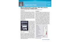 Mercury Determination in Rice Flour, SRM 1568a, using the CETAC QuickTrace™ M-8000 CVAFS - Application Note