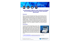 The Determination of Mercury in Soils, Sediments and Sludges by U.S. EPA Method 245.5 Cold Vapor Atomic Absorption Spectroscopy - Application Note