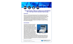 The Determination of Mercury in Waters by U.S. EPA Method 245.1 Cold Vapor Atomic Absorption Spectroscopy - Application Note