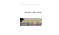 The Asia/Pacific Chapter Of The Society Of Environmental Toxicology And Chemistry 2010 Conference - 2nd Announcement Brochure (PDF 143 KB)