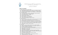 SETAC Europe 20th Annual Meeting Brochure (PDF 399 KB)