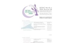 SETAC North America 30th Annual Meeting - Latest Mailer (PDF 83 KB)