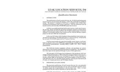 Leak Location Services Qualification Statement Brochure