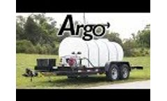 The Argo Water Tank Trailer | With Honda Engine and Pump Video