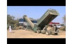 Bankout unloading almonds into 36″ Bankout Elevator 121 - Video