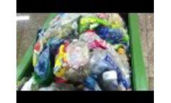 PET bottles/ALU cans/PE Film Detwatering Compactor Video