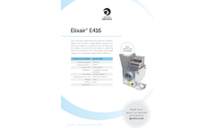 Elixair - Model E416 - Duct Filter Brochure