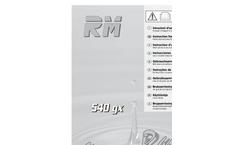 Model GX 540 Series - Irrigation Travelers Brochure