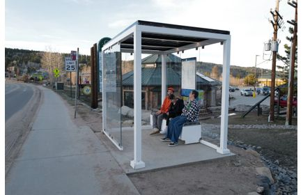 Solar-powered transit shelter, the SolarStop, has arrived!