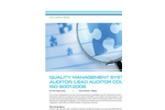 Quality Management Systems Auditor Lead Auditor Course ISO 9001-2008 - Tech sheet