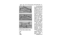 Model 10 - Weed Wiper Cart Brochure