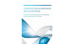 Construction Supervision and Acceptance  Services- Brochure