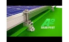Solar panel mounts for metal roof Video