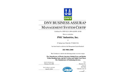 DNV BUSINESS ASSURANCE MANAGEMENT SYSTEM CERTIFICATE- Brochure