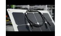 Sungold Sunpower semi flexible solar panels and portable solar panels Video