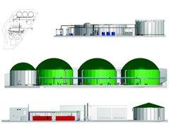 Design biogas plants