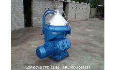 Alfa Laval - Model LOPX 710 - Alfa Laval LOPX 710