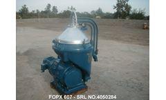 Alfa Laval - Model FOPX 607 - Oil Water Separator