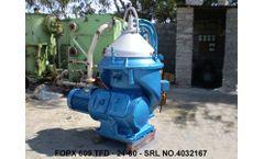 ALFA LAVAL - Model FOPX 609 - Oil Water Separator