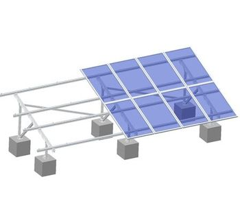 ArtSign - Model AS-AGMS-2UB - Aluminum Ground Mounting System-2 Slots U Beam