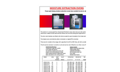 Jim Engineering - GPME-OV Series - Moisture Extraction Ovens - Brochure
