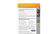 Stage II Vapor Recovery Testing Brochure