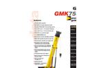 Mobile All Terrain Hydraulic Crane GMK7550- Brochure